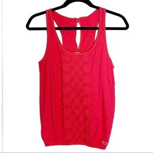 Hollister hot pink sz S bow back tank top